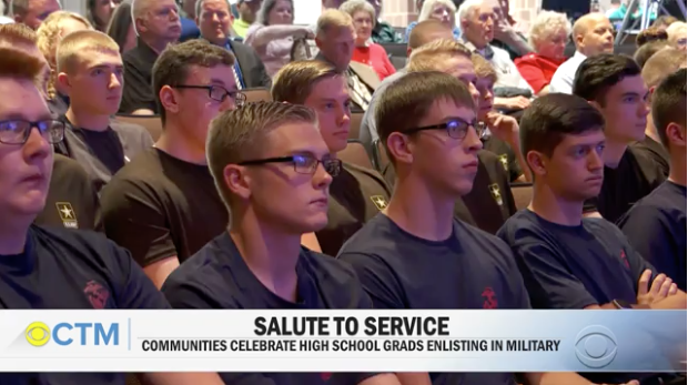 CBS News Spotlight: Communities celebrate high school grads who enlist in the military